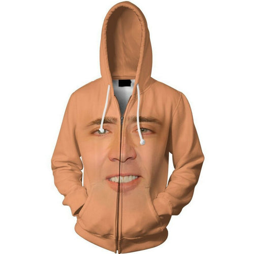 3d hoodies The Giant Blown Up Face Zid Up Hoodie