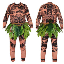 Load image into Gallery viewer, Moana Maui Tattoo T Shirt/Pants Halloween Cosplay Costumes