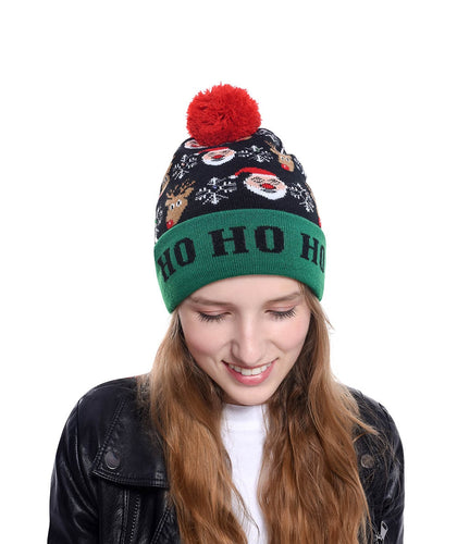 3D LED Christmas New Beanie Hats