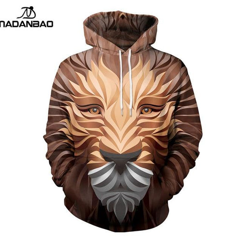 Animal Women Lion 3D Printed Pullover Unisex Casual Hoodie