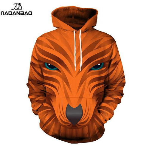 Animal Hoodies Women Fox Printed Casual Hoodie
