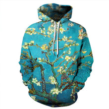 Load image into Gallery viewer, Almond Blossom Floral 3d Print Hoodies