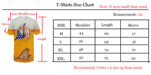 3D Smoke Print Fahsion Casual T-Shirt Funny Graphic