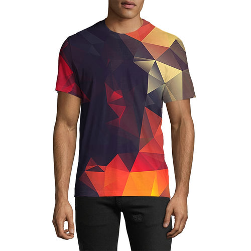 3D Print Male Abstract Glow Tee