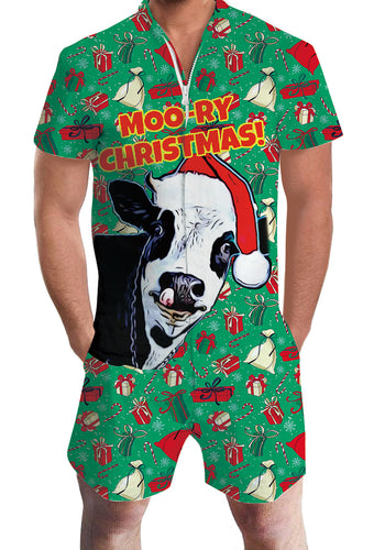 3D Print Christmas Yak Animal Mens Romper