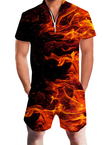 3D Print Ice and fire Abstract Mens Romper