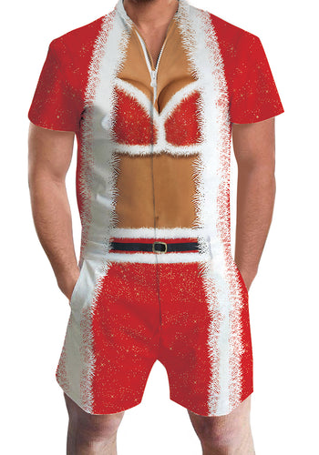 3D Print Christmas Chest 2 Mens Romper