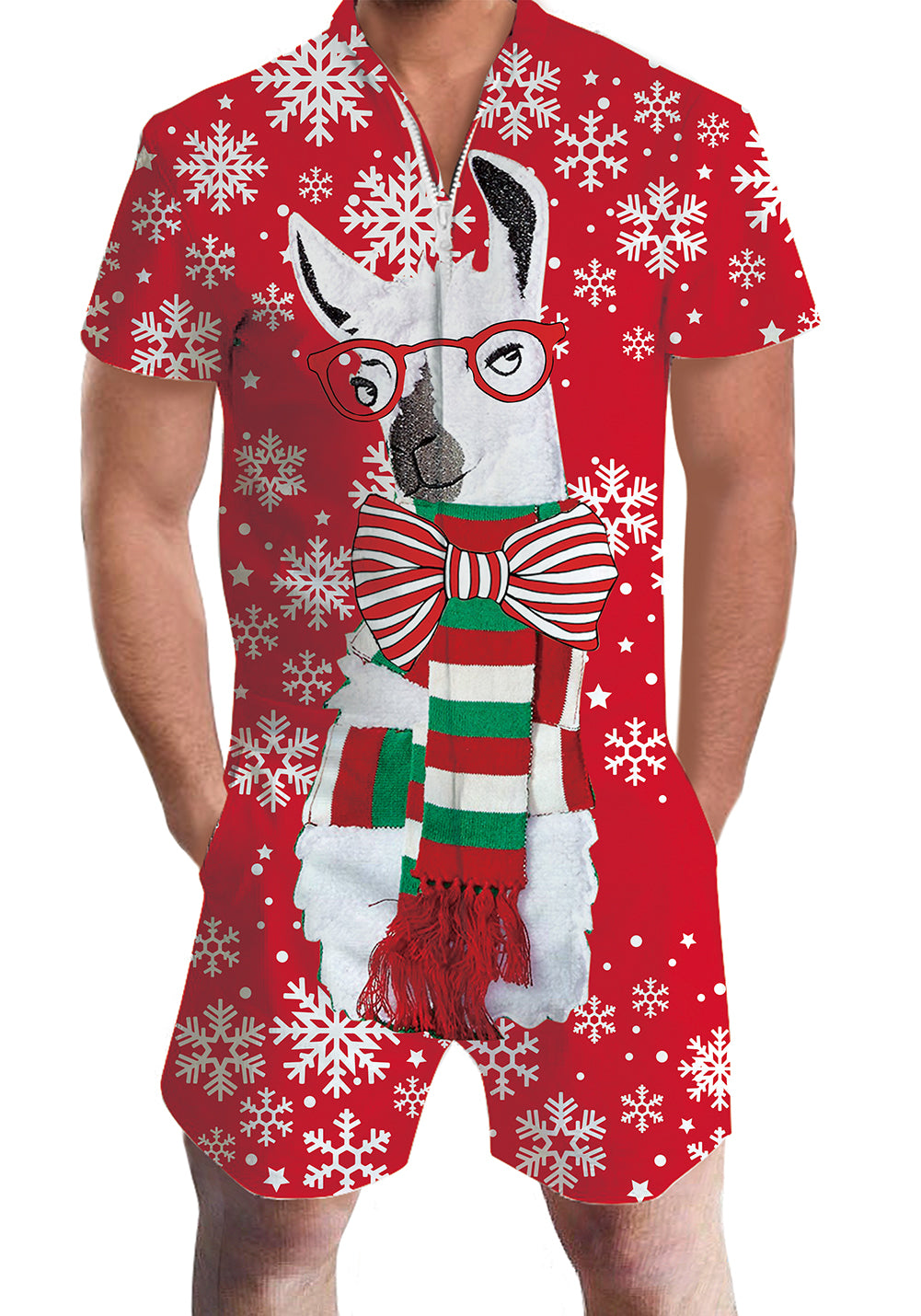 3D Print Christmas Dog Mens Romper