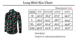 Men Button Down Christmas Santa Claus Long Sleeve Shirts