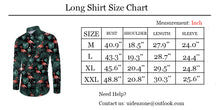 Load image into Gallery viewer, Men's Pineapple Floral Print Long Sleeve Button Down Shirt