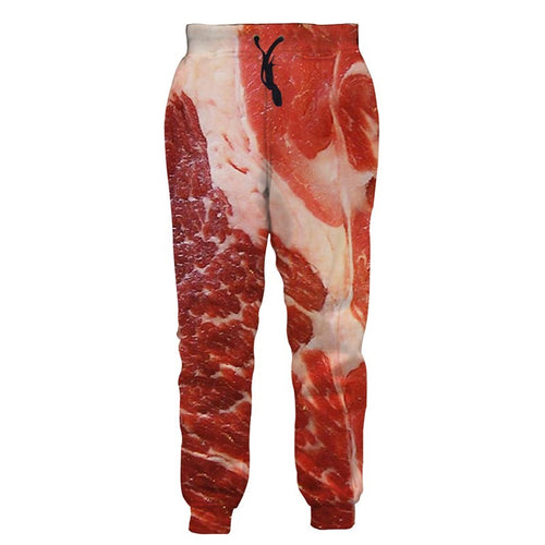 Beef Meat Food Print Joggers Pants