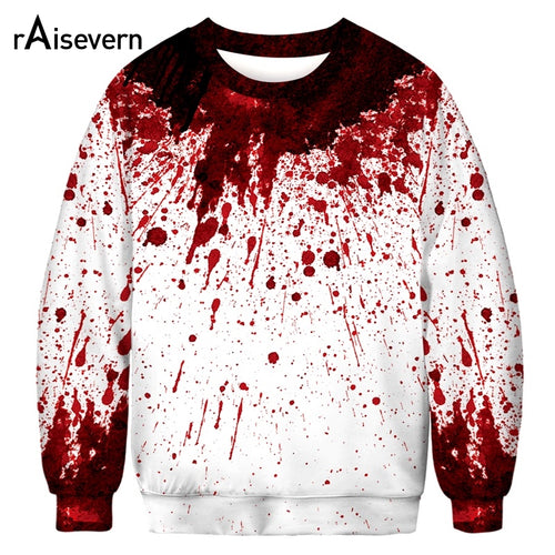 Halloween Design Sweatshirt Horror Blood Sweatshirts