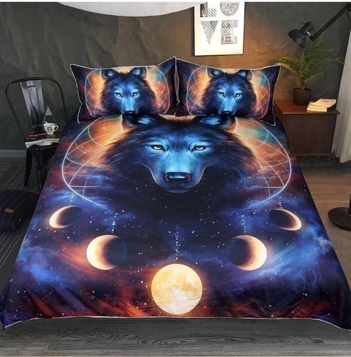 3D Printed Sun and Wolf Bedding set