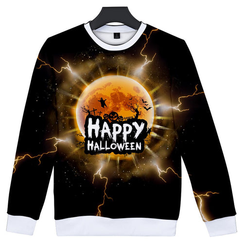 Halloween Pumpkin Face 3D Sweatshirt