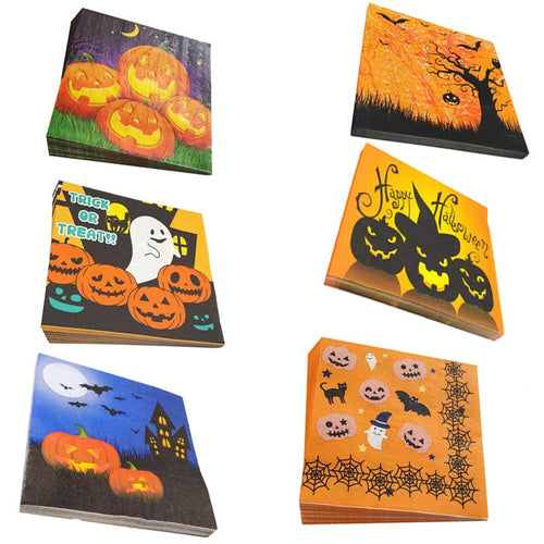 33*33 cm Halloween Decoration For Home Paper Napkins Pumpkin Witch Ghost