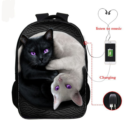 Children School Bags Orthopedic Backpack with Usb Charge
