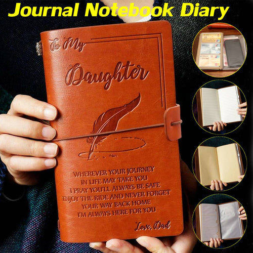 Journal Notebook Diary To My Daughter Face Challenges Love Dad Engraved Notebook