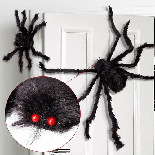 1Pc 30/50/75cm Black Big Halloween Plush Spiders