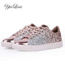 Load image into Gallery viewer, Womens Fashion Casual Rock Glitter Sparkling Sneakers