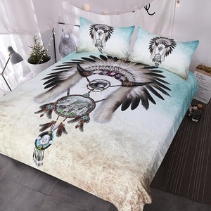 Indian Wolf Dream catcher Bedding Set