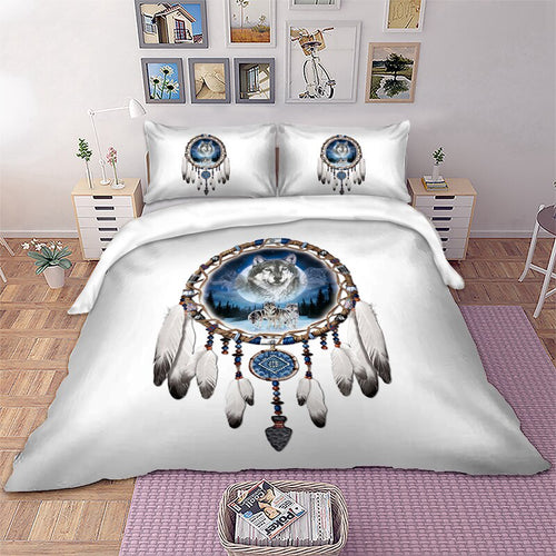 3D Printed Wolf Dream catcher Bedding Sets