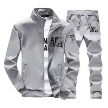 Load image into Gallery viewer, Men Zipper Casual Tracksuit Two Pieces Set
