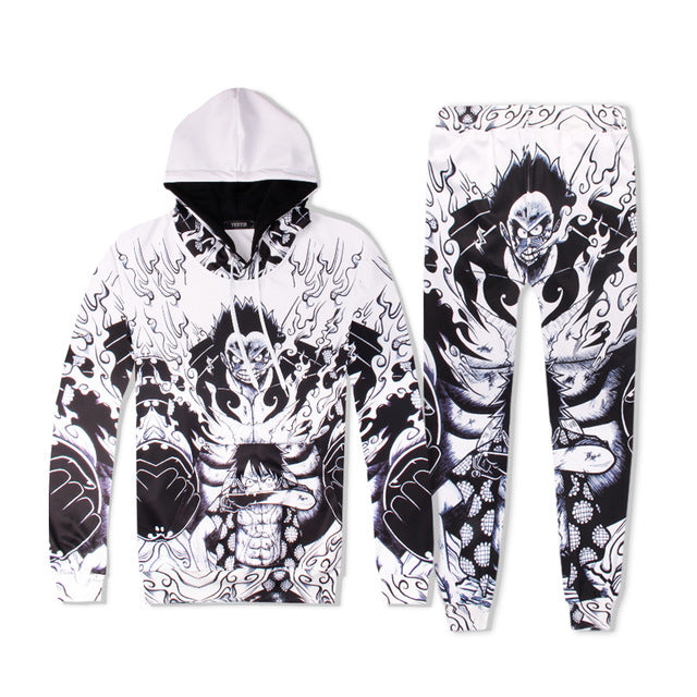 3D Lufei Iron Spider Man Black Panther Tracksuit