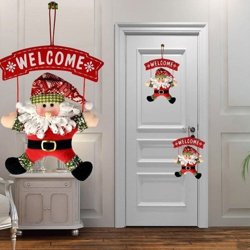 1Pcs Santa Claus Door Hanging Christmas Tree decorations