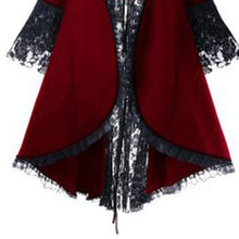 Load image into Gallery viewer, Women Gothic Halloween Dress Overcoat Lace Up Bandage Vintage long Coat