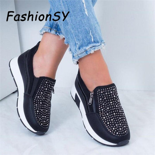 Women Sneakers 2019 Spring Autumn Casual Flat Ladies Shoes
