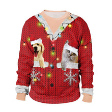 Load image into Gallery viewer, Ugly Christmas Sweatshirt for Women Men Print O Neck Pullovers