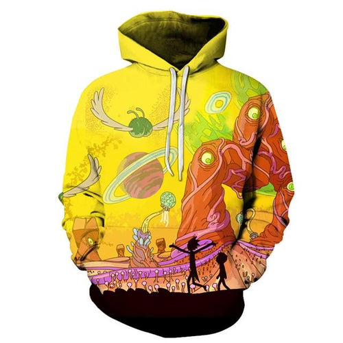 Anime Rick And Morty Casual Pullover Hoodies