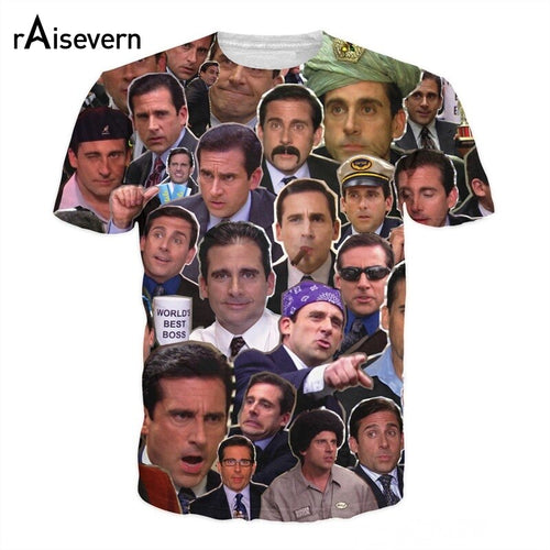 Michael Scott Paparazzi Many Faces T-Shirt Casual Style Tees