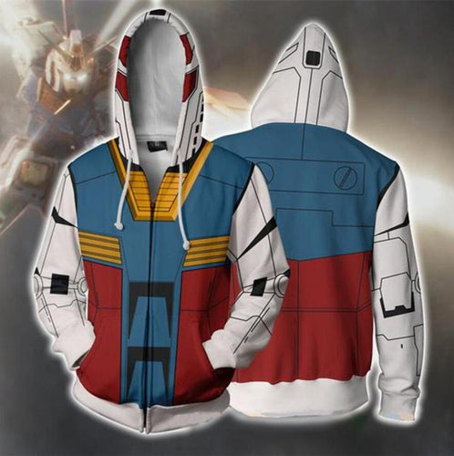 GUNDAM Hoodies Cosplay GUNDAM Man Zipper Jacket Thin Coat