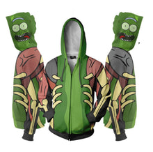 Load image into Gallery viewer, Rick and Morty Hoodie Anime Cosplay Digital Zipper Hoodie