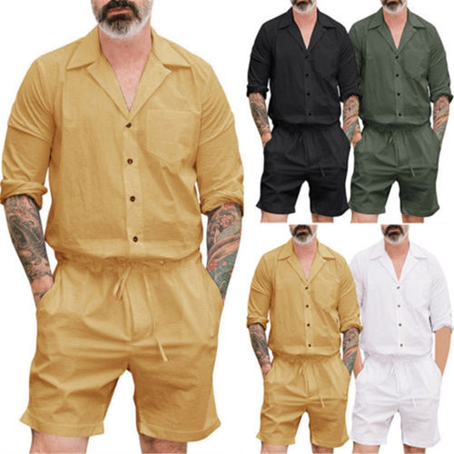 Classic Uideazone Men Casual Short Sleeve Stylish Romper