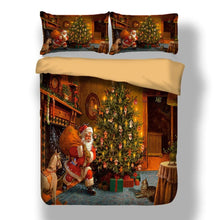 Load image into Gallery viewer, 3D Santa Claus Printed Merry Christmas Bedding Set
