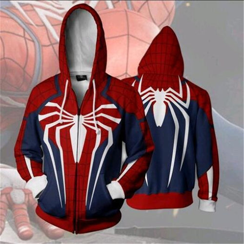Spiderman CosplayHoodies & Sweatsh Game anime zippe Hoodie