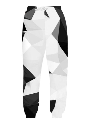 Black and White New Jogger Pants Sweatpants