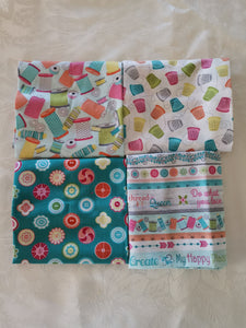 Fat Quarters x 4 - My Happy Place