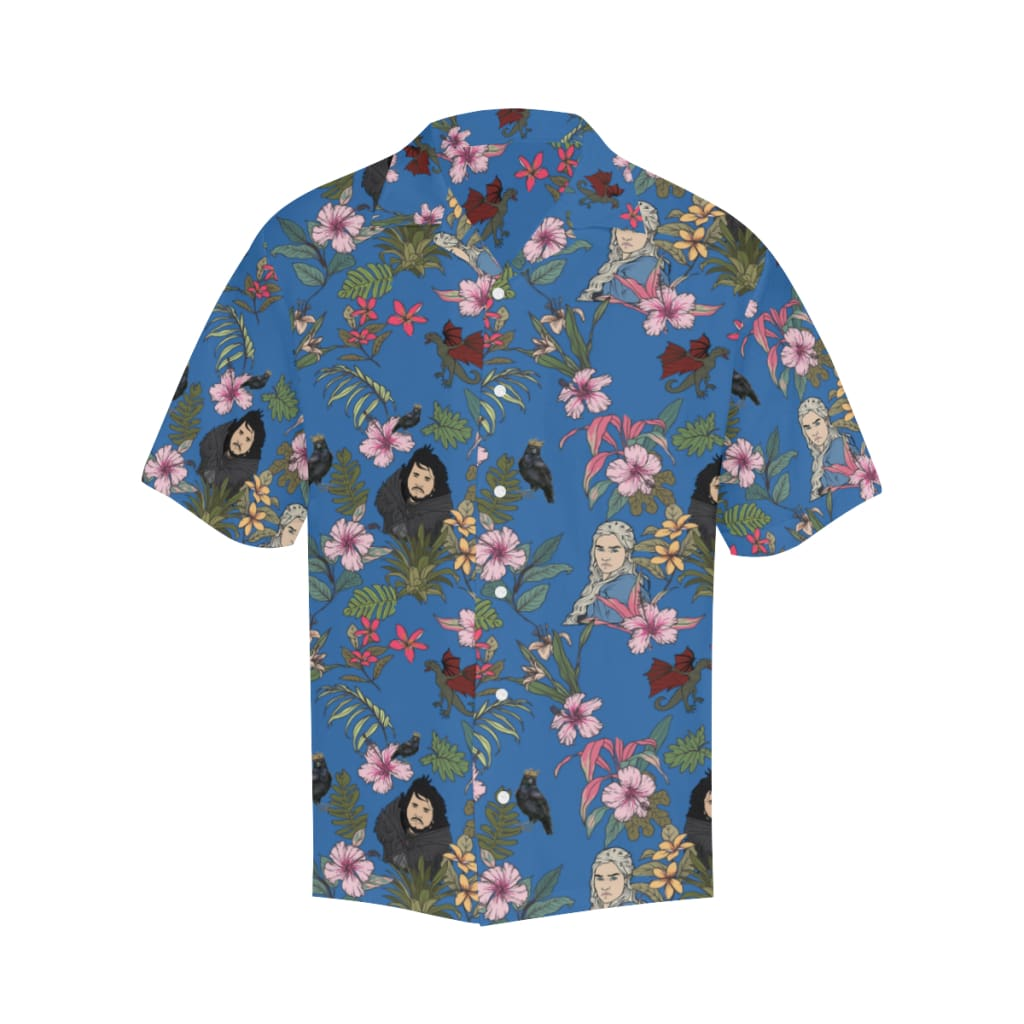 a98939e3 Game Of Flowers - S / Cornflowerblue - All-Over Shirts