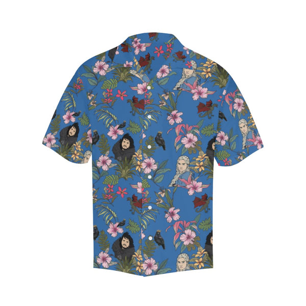 Game Of Flowers - S / Cornflowerblue - All-Over Shirts