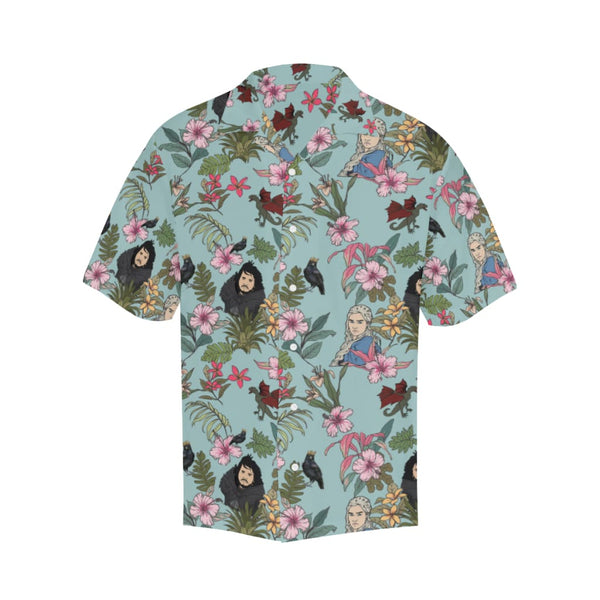 Game Of Flowers - S / Mediumaquamarine - All-Over Shirts