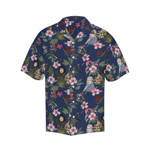 Game Of Flowers - S / Navy - All-Over Shirts