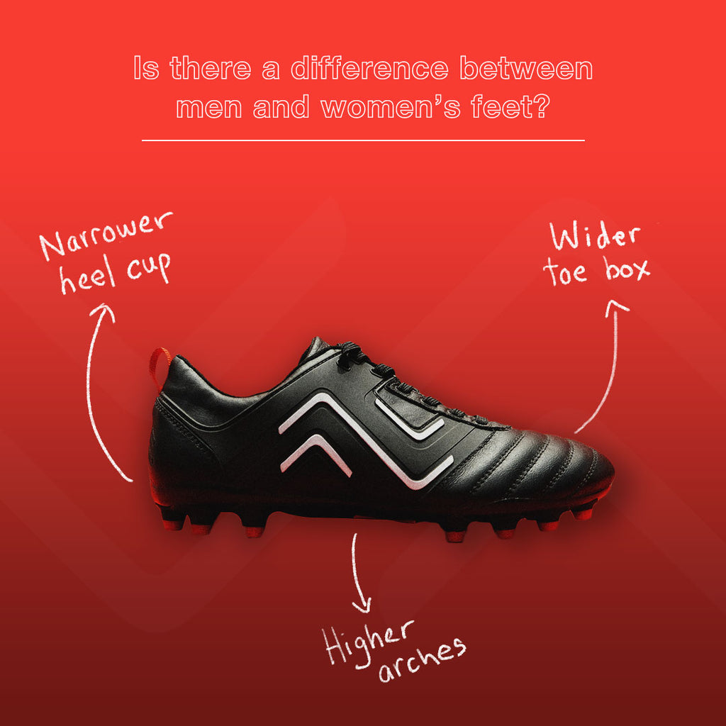 The 4 main differences between men and women's soccer boots soccer players need to know