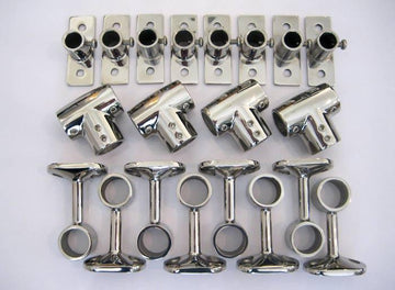 MOUNTING HARDWARE KIT FOR SIDE RAILS - CLASSIC 16'-17' BOSTON WHALER (OEM STYLE) 1961-2002