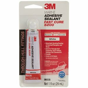 MARINE ADHESIVE SEALANT 5200 WHITE 1oz *FAST CURING* 3M