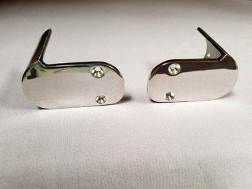 BOSTON WHALER 90 DEGREE RUBRAIIL END CAPS (PAIR) - FOR CLASSIC OUTRAGE 18' - 25' - 316 STAINLESS