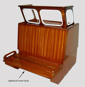 BOSTON WHALER 16'/17' NAUSET, SAKONNET OR EASTPORT MAHOGANY CONSOLE COMPLETE WITH WINDSHIELD