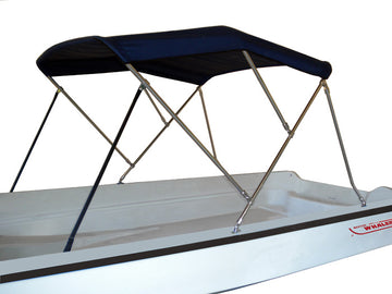STAINLESS BIMINI TOP - FITS BOSTON WHALER 150 SPORT, 170 MONTAUK (2002-2006), 150 Montauk & 13'-16' DAUNTLESS